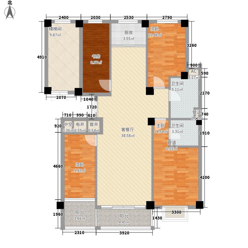 银河世家162.00㎡户型4室2厅2卫1厨