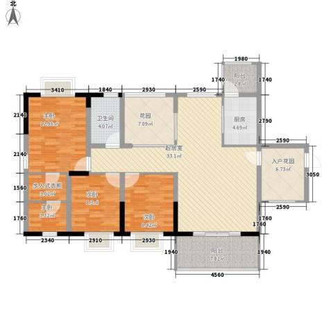 澜湖岸边4室0厅1卫1厨116.96㎡户型图