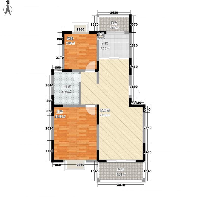 华灿公寓99.88㎡华灿公寓户型图E户型2室2厅1卫1厨户型2室2厅1卫1厨
