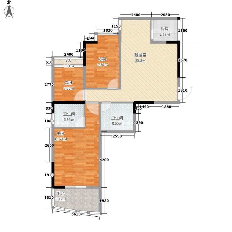 福州 摩卡生活馆 户型图 2#楼304