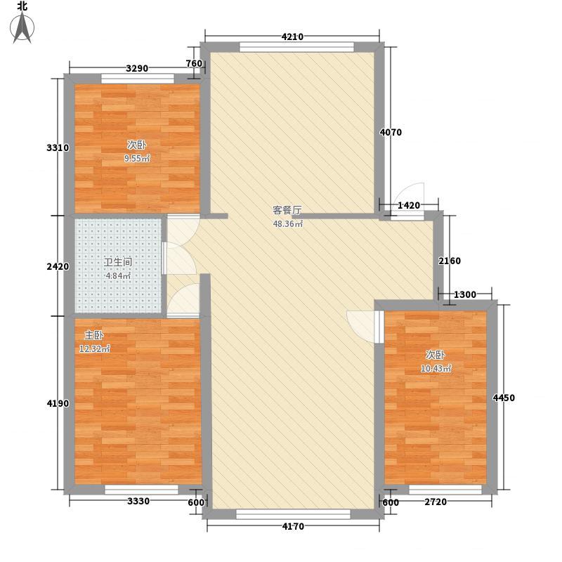 龙逸花园二期138.00㎡龙逸花园二期3室户型3室