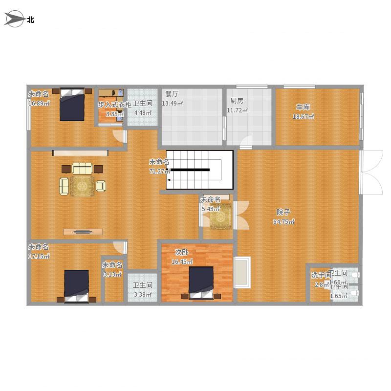我的家方案2一层平面