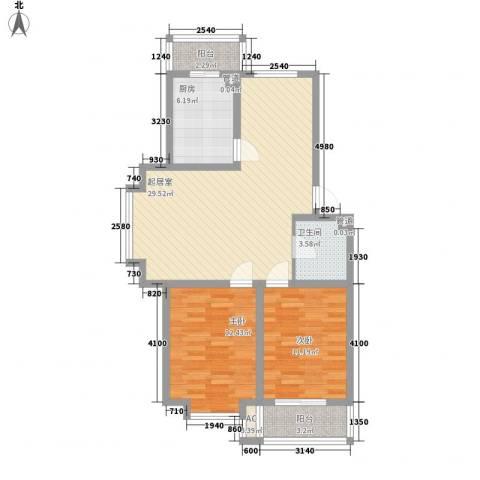 华瑞家园2室0厅1卫1厨101.00㎡户型图