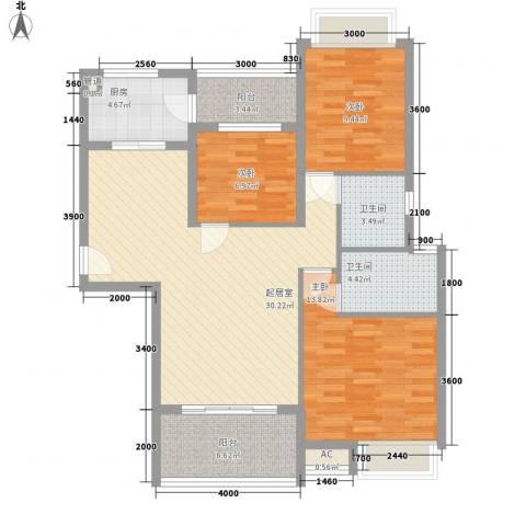 东方红广场3室0厅2卫1厨83.74㎡户型图