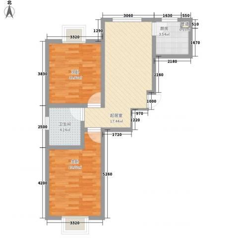 大江原筑2室0厅1卫1厨78.00㎡户型图