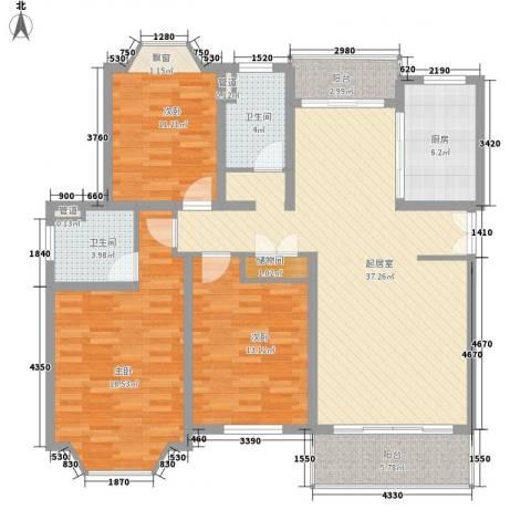 郁庭峰3室0厅2卫1厨119.00㎡户型图
