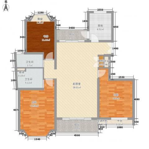 郁庭峰3室0厅2卫1厨120.00㎡户型图