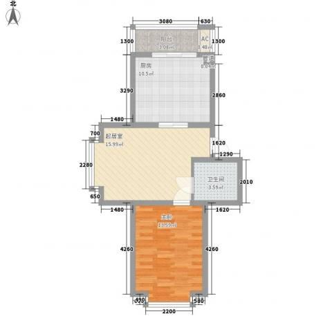华瑞家园1室0厅1卫1厨67.00㎡户型图