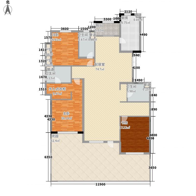 辰能溪树庭院三层C1户型
