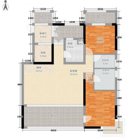 佛山力迅上筑2室0厅2卫1厨206.00㎡户型图