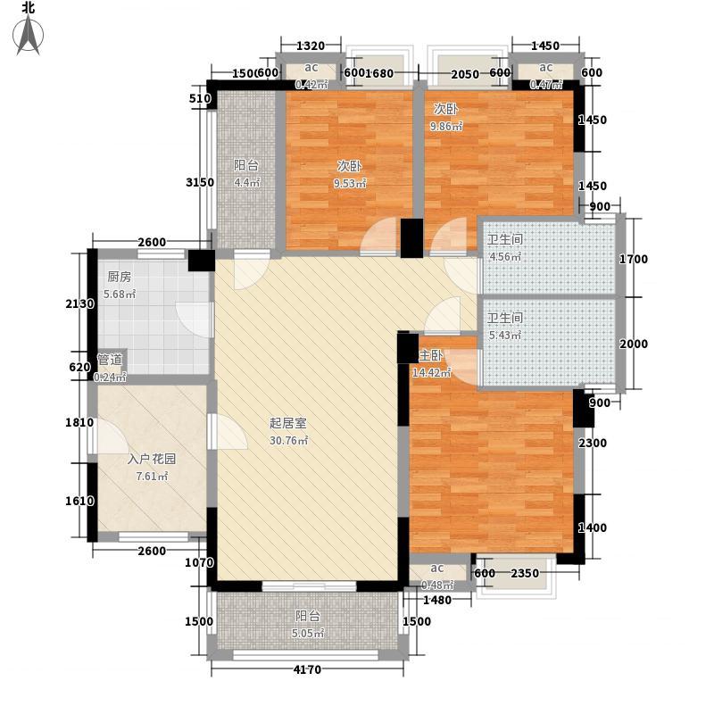 宏信・玫瑰城12.00㎡C2户型3室2厅2卫1厨