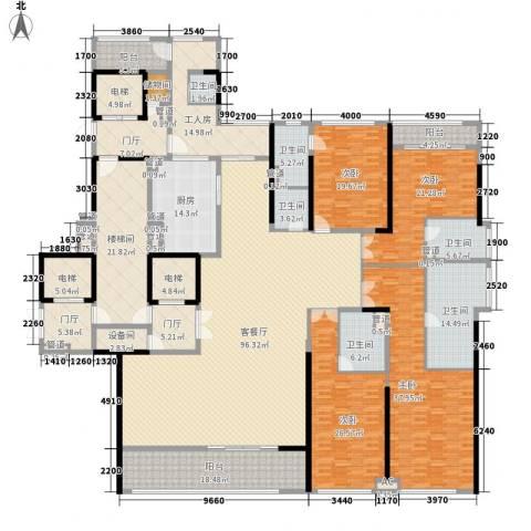 金地天玺4室1厅6卫1厨357.79㎡户型图