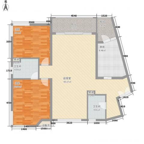 尊园2室0厅2卫1厨139.00㎡户型图