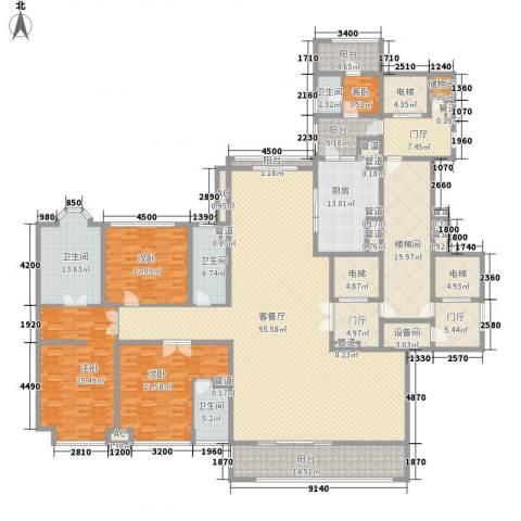 金地天玺4室1厅4卫1厨290.77㎡户型图