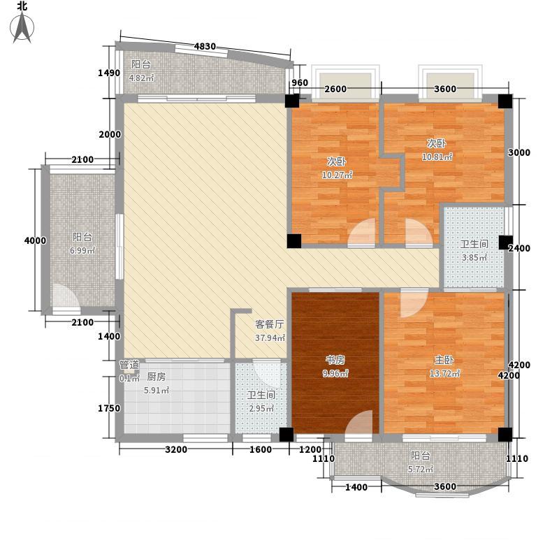 金山豪景户型图4室2厅2卫1厨