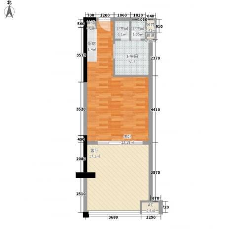 合景・汀澜海岸1室1厅3卫0厨53.00㎡户型图