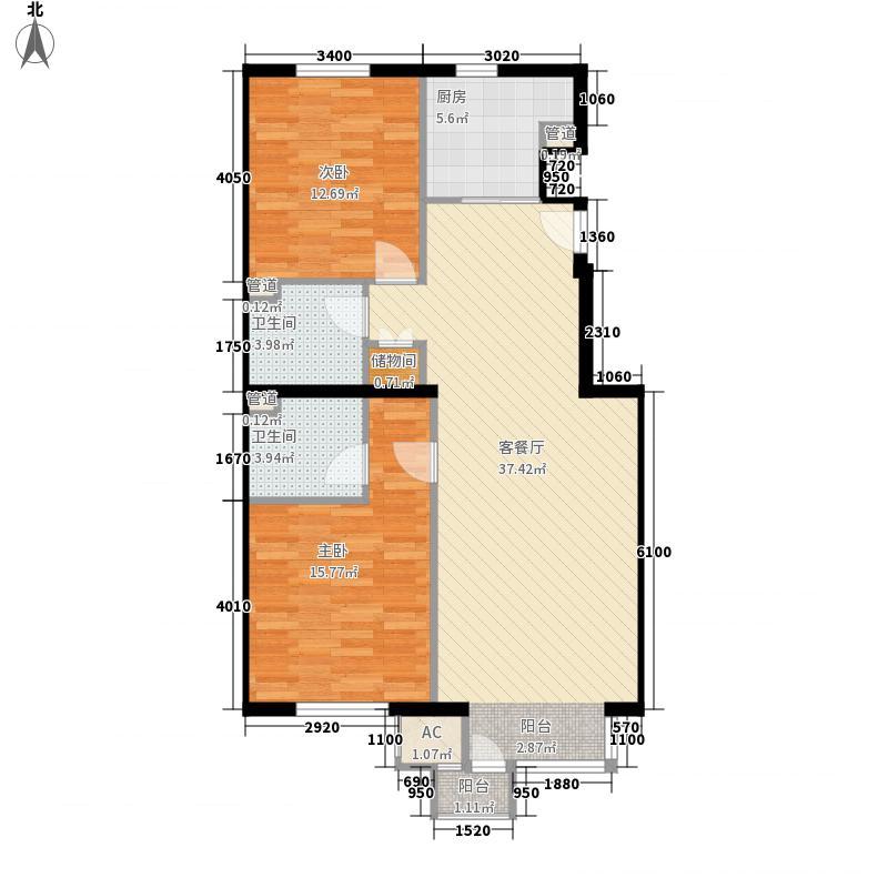格林莱雅108.00㎡格林莱雅108.00㎡2室户型2室