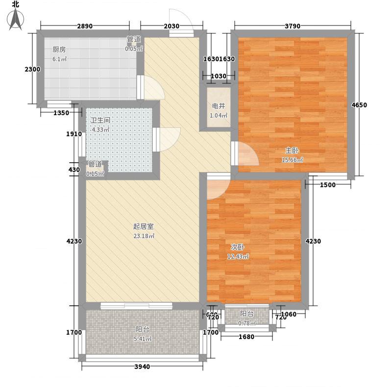 欣宏嘉园101.11㎡上海-千禧静安户型2室2厅1卫1厨