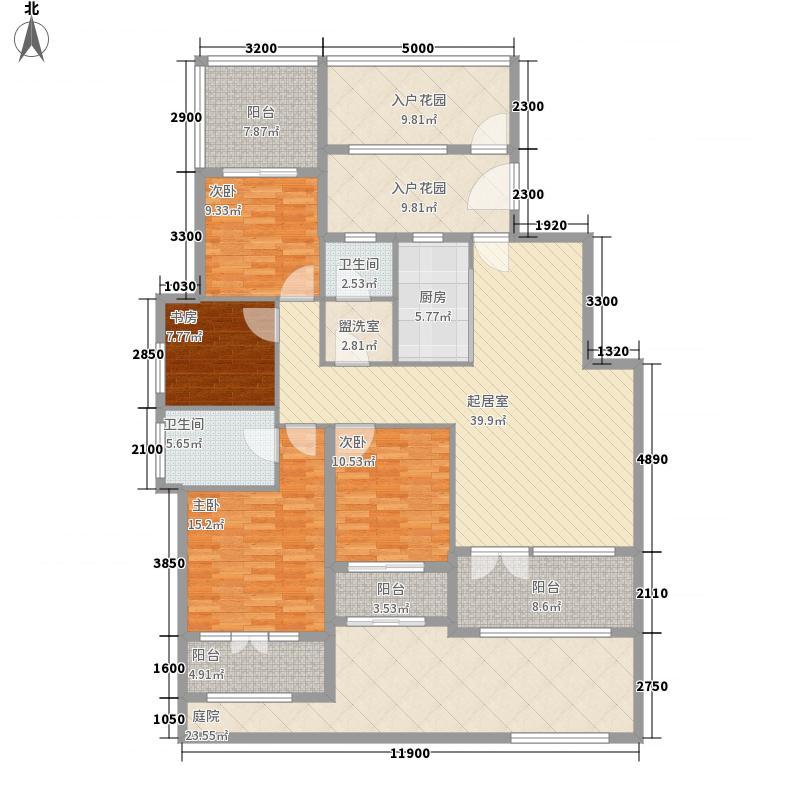 天下锦程141.15㎡16-3-102户型4室2厅2卫1厨