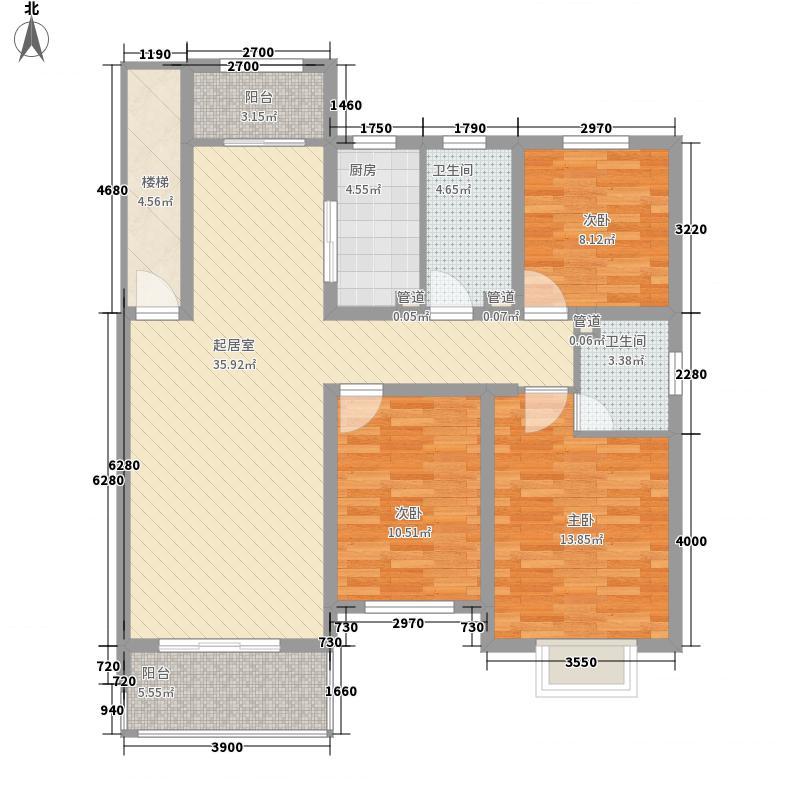 外海蝶泉山庄别墅136.00㎡户型3室2厅2卫