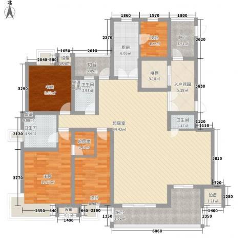 新兴大厦4室0厅3卫1厨180.00㎡户型图