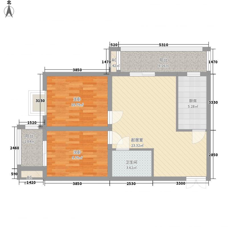 鸿瑞佳园90.50㎡鸿瑞佳园户型图A4户型2室2厅1卫1厨户型2室2厅1卫1厨