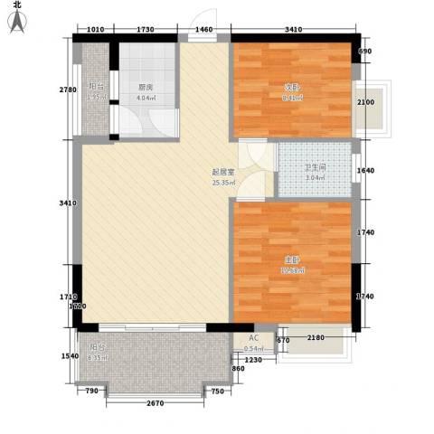 一江名城2室0厅1卫1厨78.00㎡户型图