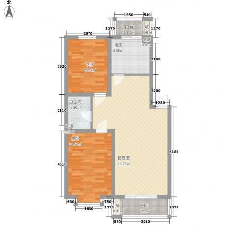 华瑞家园2室0厅1卫1厨100.00㎡户型图