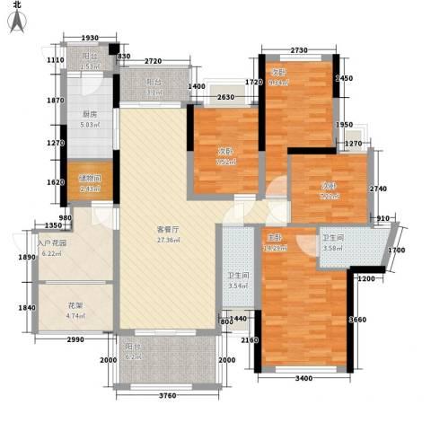 世纪滨江豪园4室1厅2卫1厨148.00㎡户型图