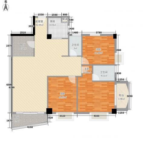 颐和上院二期3室0厅2卫1厨134.00㎡户型图