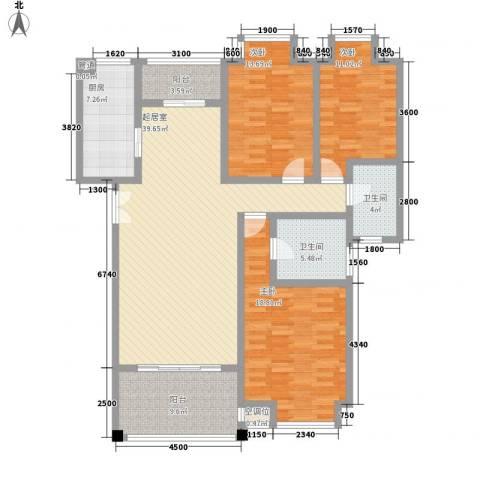 檀香山3室0厅2卫1厨164.00㎡户型图