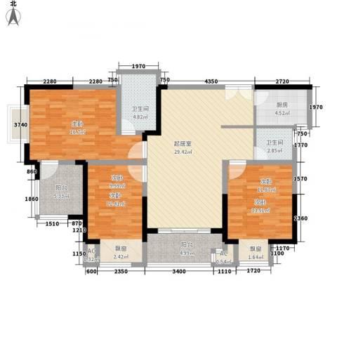 天凤国际大厦3室0厅2卫1厨138.00㎡户型图