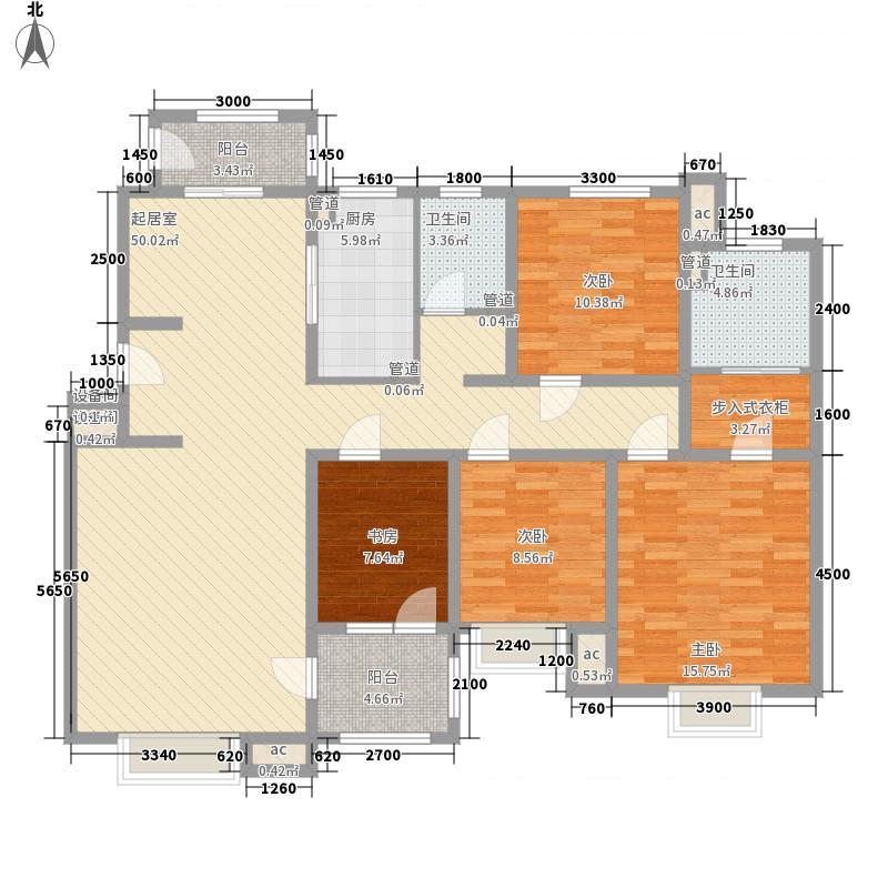 泰华・丽景金城15.00㎡16#G户型4室2厅2卫1厨