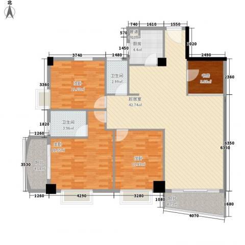 颐和上院二期4室0厅2卫1厨134.00㎡户型图