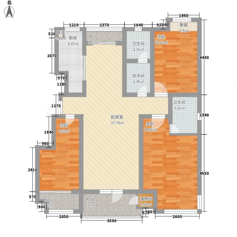 金林佳园120.00㎡金林佳园户型图三居3室2卫1厨户型3室2卫1厨