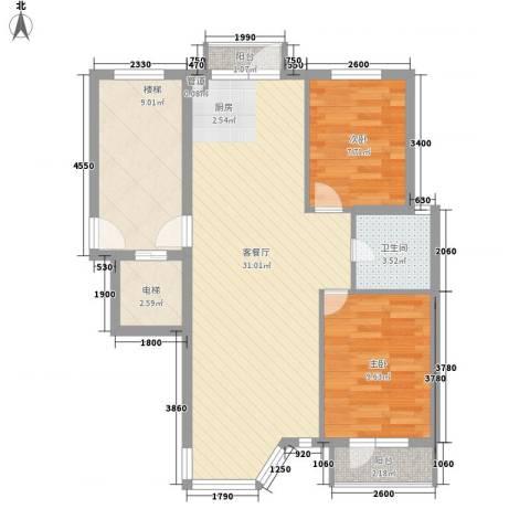 幸福E家四期2室1厅1卫0厨76.00㎡户型图