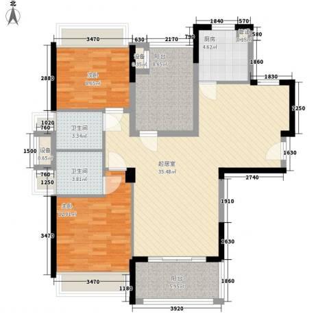 新兴大厦2室0厅2卫1厨120.00㎡户型图