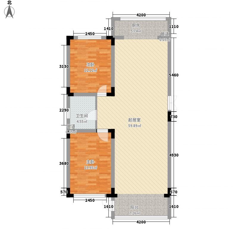长江花园117.24㎡长江花园户型图2室2厅1卫户型10室