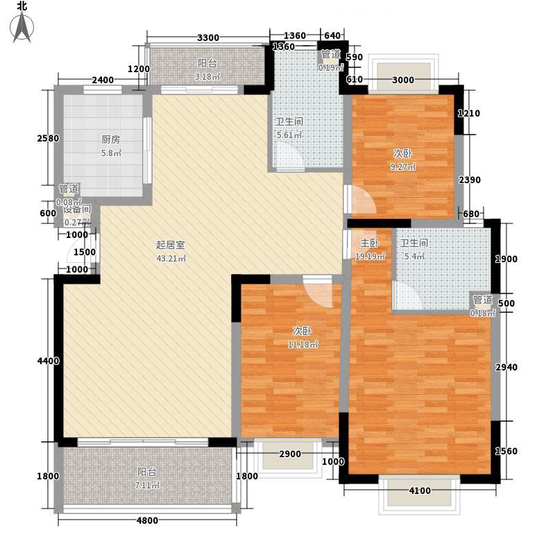 东海椰苑140.88㎡东海椰苑户型图D户型图3室2厅2卫户型3室2厅2卫