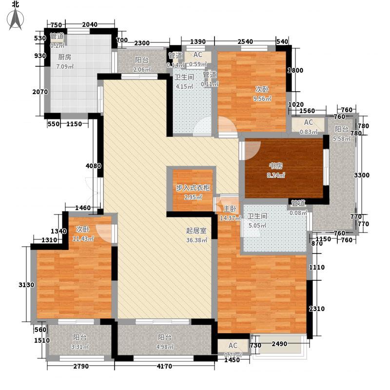 盛和花半里173.00㎡盛和花半里户型图G户型4室2厅2卫1厨户型4室2厅2卫1厨