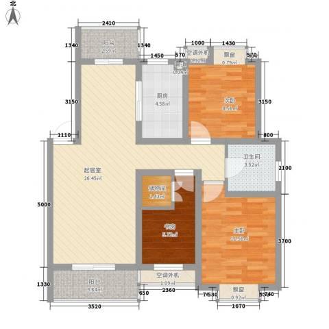 映月苑3室0厅1卫1厨100.00㎡户型图