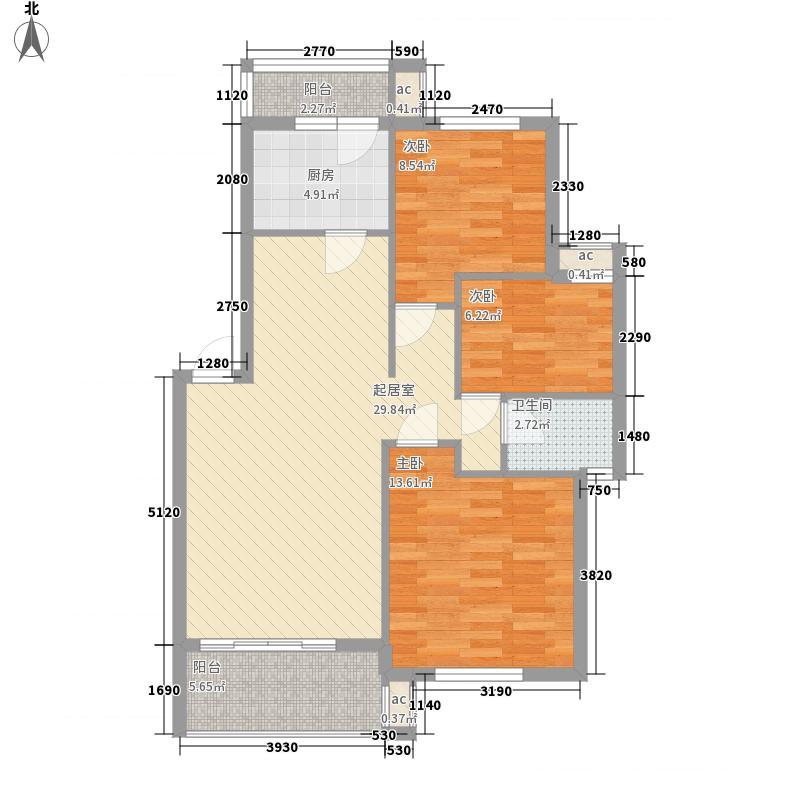 创业一村101.00㎡创业一村3室户型3室