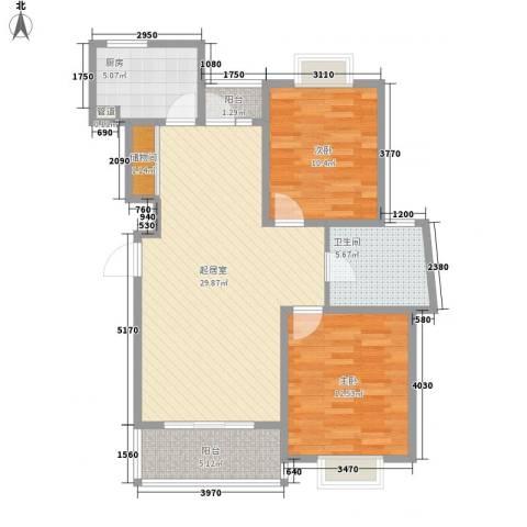 南洋瑞都2室0厅1卫1厨101.00㎡户型图