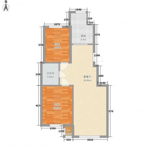光明山西街2室1厅1卫1厨89.00㎡户型图