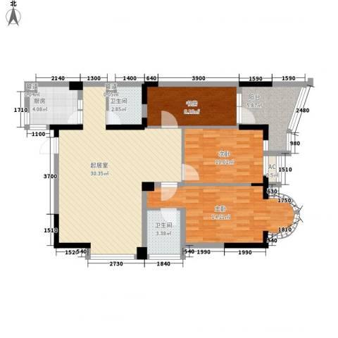翰林雅居3室0厅2卫1厨115.00㎡户型图