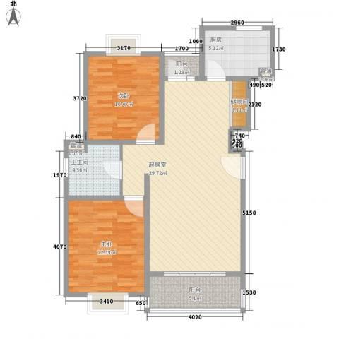 南洋瑞都2室0厅1卫1厨99.00㎡户型图