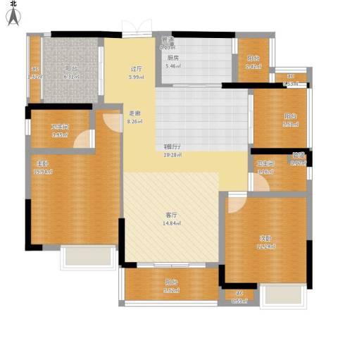 方直.星耀国际2室1厅2卫1厨148.00㎡户型图