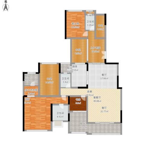 珑湖湾东岸3室1厅3卫1厨258.00㎡户型图