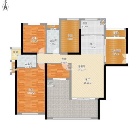 珑湖湾东岸3室1厅2卫1厨188.00㎡户型图