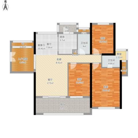 珑湖湾东岸3室1厅2卫1厨165.00㎡户型图